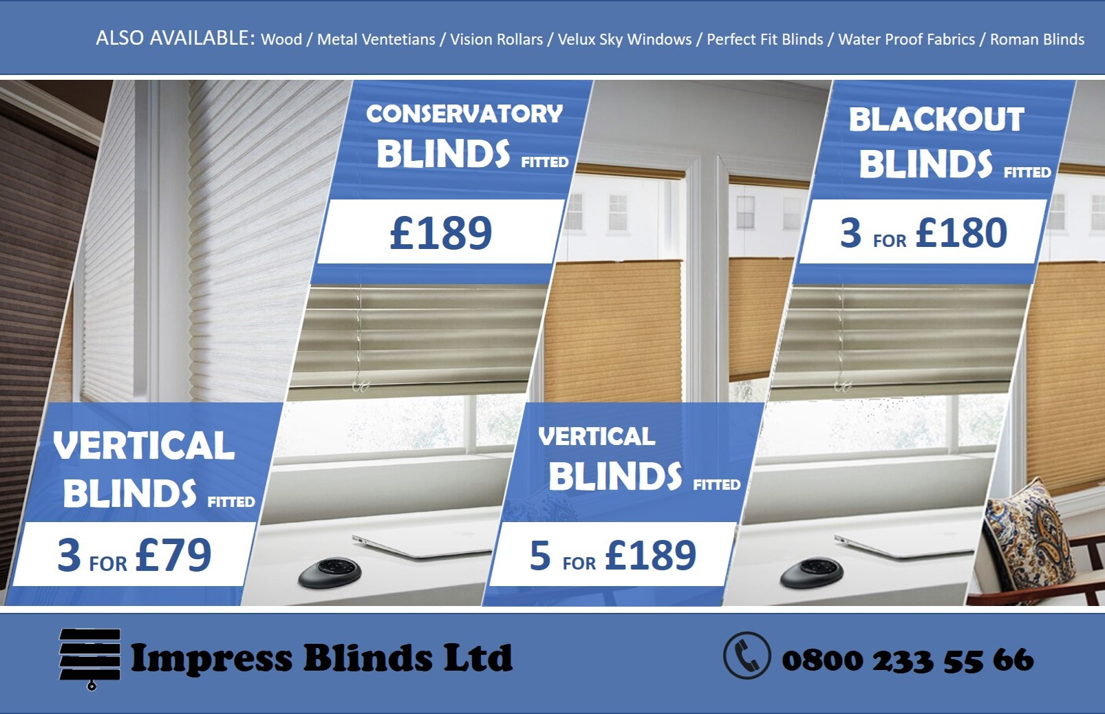 Cheap Window Blinds Dewsbury